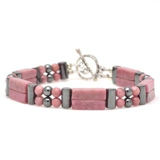 Healing Stones for You Rhodonite Double Power Bracelet 'Fertility'