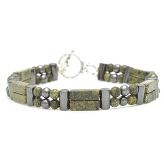 Healing Stones for You Seraphinite Double Power Bracelet 'Helps with Weight Loss'