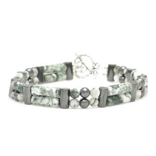 Healing Stones for You Tree Agate Double Power Bracelet 'Self Esteem Boost'