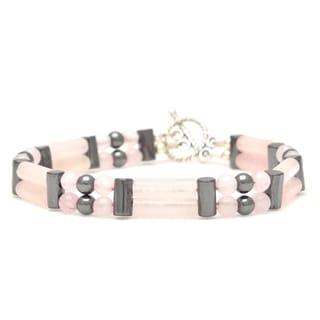 Healing Stones for You Rose Quartz Double Power Bracelet 'Attract Love'