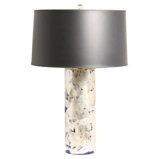 Aidan Gray Blue Silver Leaf Table Lamp