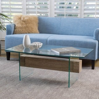 Christopher Knight Home Deacon Glass Coffee Table