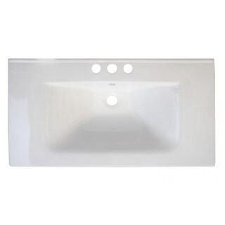 32-in. W x 18-in. D Ceramic Top In White Color For 8-in. o.c. Faucet