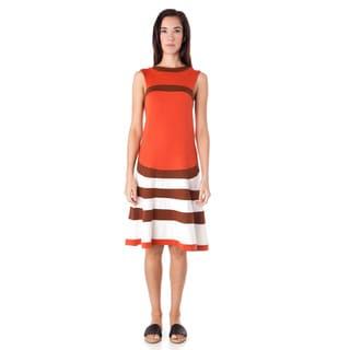 AtoZ Women's Multi-color Modal A-line Sleeveless Dress