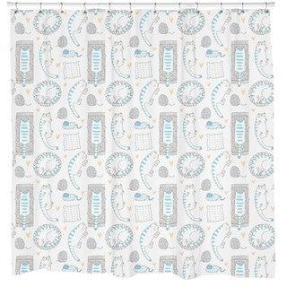 Sharp Shirter Caturday Shower Curtain