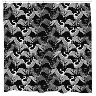 Sharp Shirter Flock of Swans Shower Curtain
