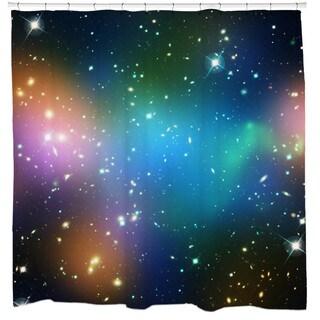 Sharp Shirter Galaxy Cluster Shower Curtain