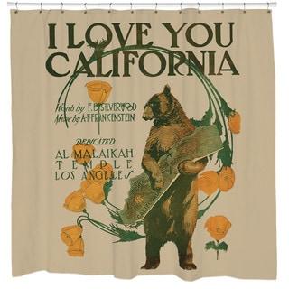 Sharp Shirter I Love You California/ Bear Shower Curtain