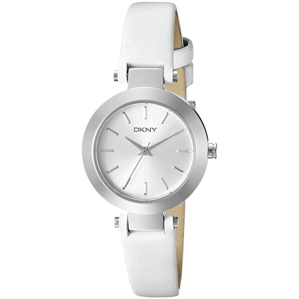 DKNY Women's NY2403 'Stanhope' White Leather Watch