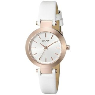 DKNY Women's NY2405 'Stanhope' White Leather Watch
