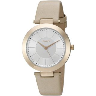 DKNY Women's NY2459 'Stanhope' Beige Leather Watch