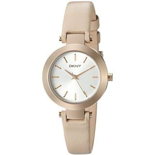 DKNY Women's NY2457 'Stanhope' Beige Leather Watch