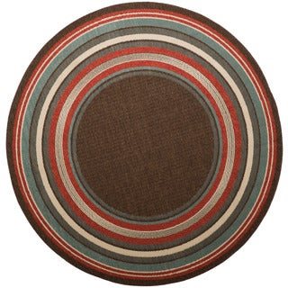 Christopher Knight Home Roxanne Harriet Indoor/Outdoor Brown Rug (7' Round)