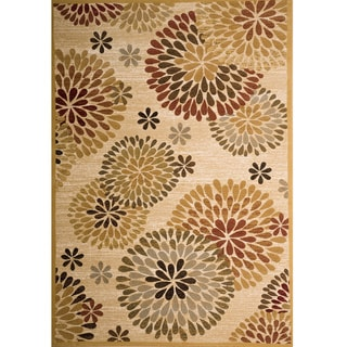Christopher Knight Home Yetta Cambaria Gold Floral Rug (5' x 8')