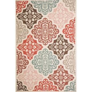 Christopher Knight Home Roxanne Fairen Indoor/Outdoor Multi Floral Rug (5' x 8')