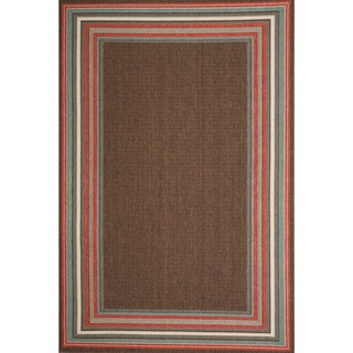 Christopher Knight Home Roxanne Harriet Indoor/Outdoor Brown Rug (5' x 8')