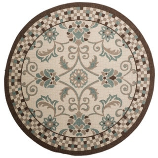 Christopher Knight Home Roxanne Charlotte Indoor/Outdoor Multi Rug (7' Round)