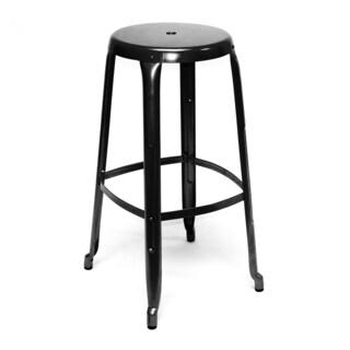Austin Black Steel Industrial Stackable 30-inch Barstool (Pack of 4)