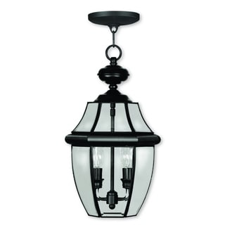 Livex Lighting Monterey Black 2-light Outdoor Chain Lantern