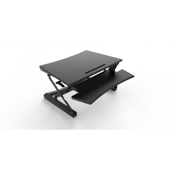 Ergomax Black Sit/Stand Desktop Workstation