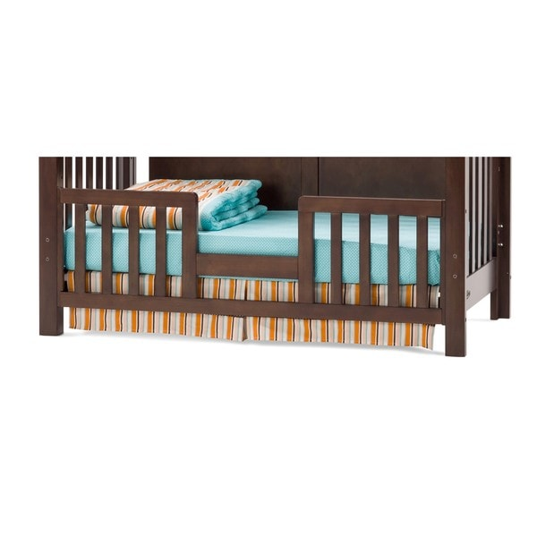 Child Craft Abbott Wood Toddler Guard Rail with Walnut Finish