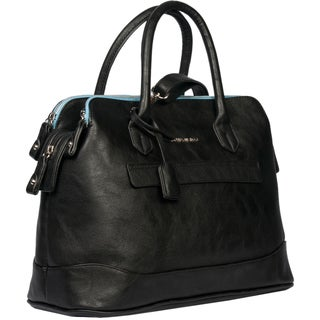 London Fog Preston Faux-leather 16-inch Triple-satchel Handbag