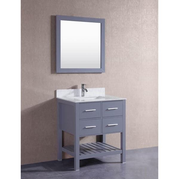 Popular  Modero Single 30Inch Chilled Gray Bathroom Vanity With Top Option