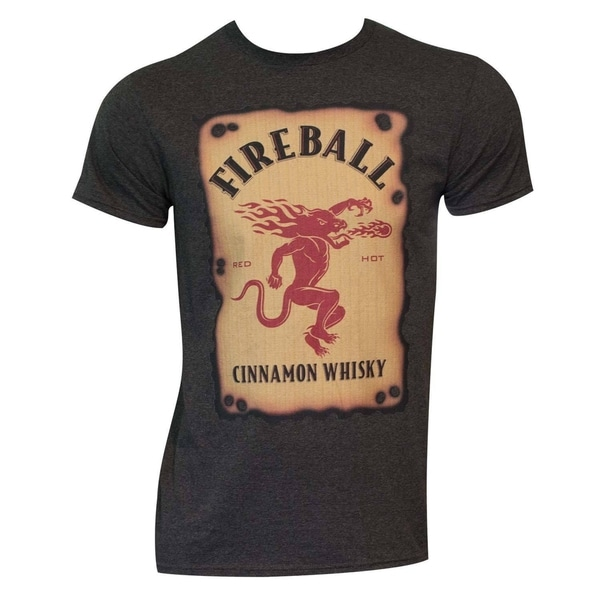 Men's Fireball Label Black Cotton/Polyester T-shirt 19174276