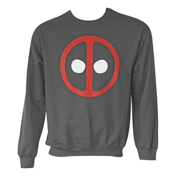 Men's Deadpool Logo Long-sleeve Crewneck Sweatshirt