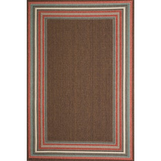 Christopher Knight Home Roxanne Harriet Indoor/Outdoor Brown Rug (7' x 10')