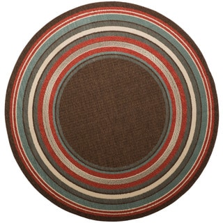 Christopher Knight Home Roxanne Harriet Indoor/Outdoor Brown Rug (8' Round)
