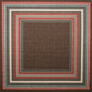 Christopher Knight Home Roxanne Harriet Indoor/Outdoor Brown Rug (7' Square)
