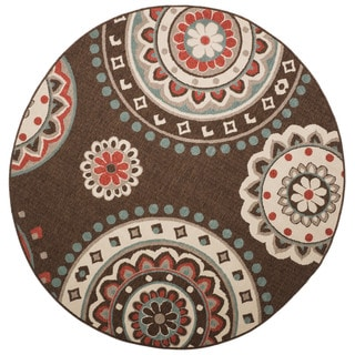 Christopher Knight Home Roxanne Lee Indoor/Outdoor Brown Rug (8' Round)