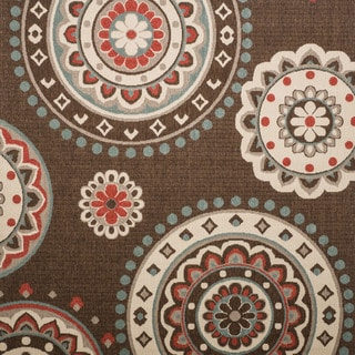 Christopher Knight Home Roxanne Lee Indoor/Outdoor Brown Rug (7' Square)
