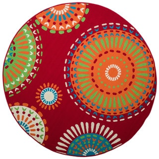 Christopher Knight Home Roxanne Mala Indoor/Outdoor Red Rug (8' Round)