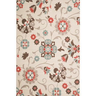 Christopher Knight Home Roxanne Telca Indoor/Outdoor Silver Floral Rug (5' x 8')