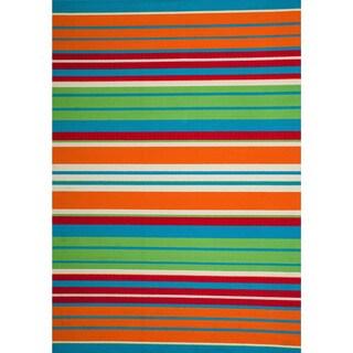 Christopher Knight Home Roxanne Lex Indoor/Outdoor Orange Multi Stripe Rug (5' x 8')