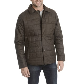 Tahari Men's Polyester Quilted Shirt Jacket