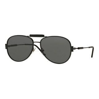 Versace Men's VE2167Q 126187 Black Metal Pilot Sunglasses