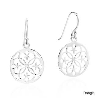 Starry Lace Circles .925 Silver Dangle and Stud Earrings (Thailand)