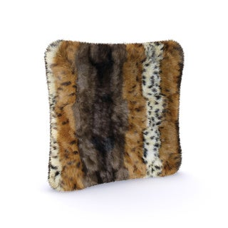 Anna Ricci Animal-pattern Faux-fur Throw Pillow Covers (Set of 2)
