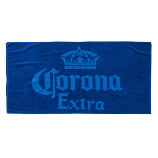 Corona Extra Blue Cotton Beach Towel