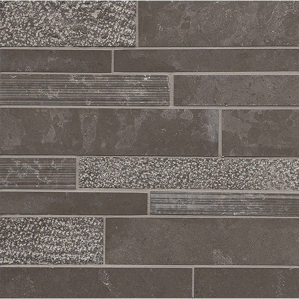 Vog Limestone Random Linear Mosaic Tile (Pack of 10 Sheets)