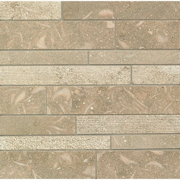 Sea Grass Random Linear Mosaic Stone Tile (Pack of 10)