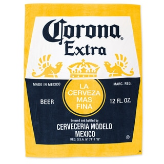 Corona Yellow Cotton Extra-jumbo Blanket Beach Towel