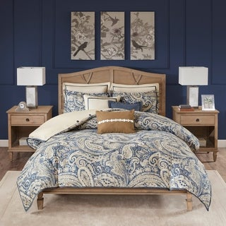 Hampton Hill Urban Chic Navy Cotton Comforter Set