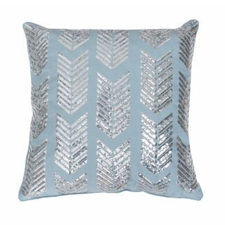 Hadara Sequin Arrow Feather-filled Throw Pillow