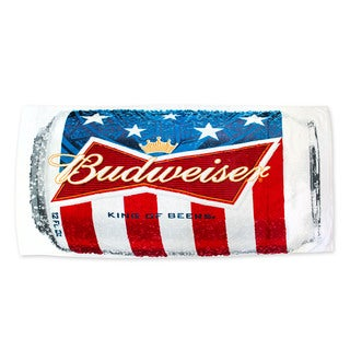 Budweiser Beer Can Multicolor Cotton Beach Towel