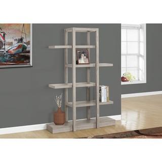 Monarch Taupe 5-shelf Open Concept Display Shelf