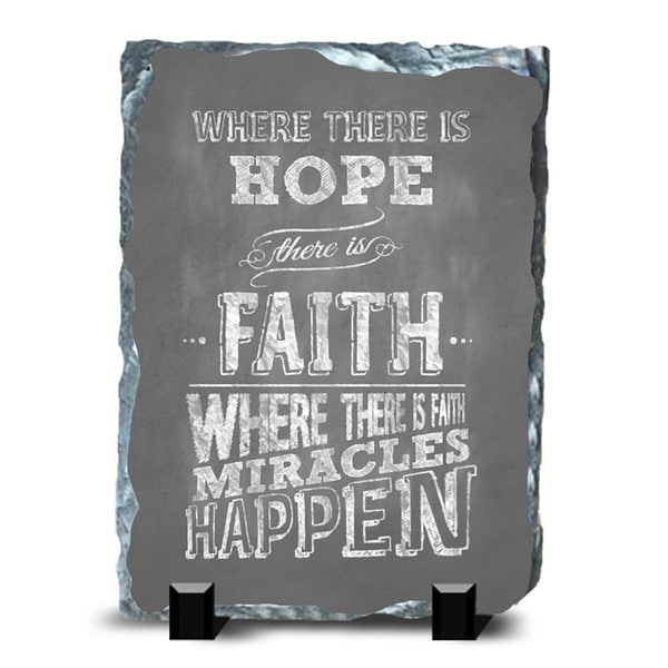 Faith Slate Miracles Wall Decor